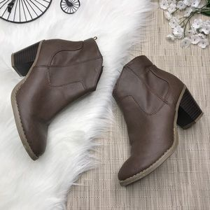 Old Navy Brown Ankle Booties